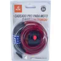 Cadeado Para Bicicleta Com Segredo Acte Sports Pro A20 - Vermelho