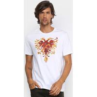 Camiseta Cavalera Águia Ninja Masculina - Masculino-Branco