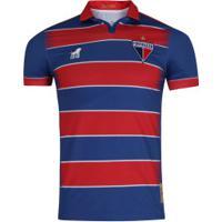 Camisa Do Fortaleza Tradição I 2019 Nº 18 Leão - Masculina - Azul/Vermelho
