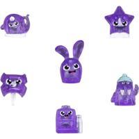 Conjunto De 6 Mini Bonecas - Hanazuki - Humores - Roxos Corajosos - Hasbro - Feminino