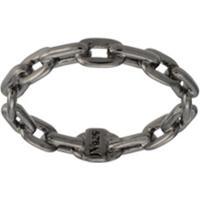 Jack Vartanian Anel 'Chain' Prata Com Ródio Negro - Prateado