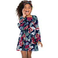 Vestido Infantil Nanai Marinho