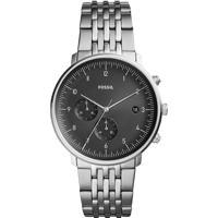 Relógio Cronógrafo Fossil Masculino - Fs5489/1Pn Prateado