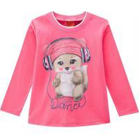 Blusa Infantil Feminina Rosa