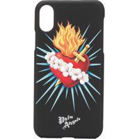 Palm Angels Capa Para Iphone X Com Estampa De Coração - Preto