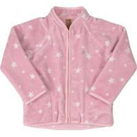 Jaqueta Em Pelo Sintético Rosa