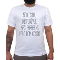 Não Estou Disponível - Camiseta Clássica Masculina