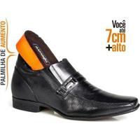 Sapato Social Masculino Em Couro Alth 7Cm Rafarillo - Masculino-Preto