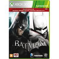 Jogo Batman: Arkham Asylum + Batman: Arkham City Para Xbox 360 (X360)