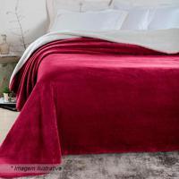Manta Andes Attuale De Casal- Vermelho Escuro- 180X2Corttex
