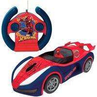 Carrinho De Controle Remoto Candide Overdrive Marvel Homem Aranha Azul 4+ 5845