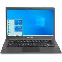 Notebook Multilaser Legacy Cloud Intel Quad Core Atom Z8350, 2Gb, 32Gb, Windows 10, 14´, Cinza - Pc130