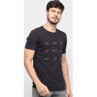 Camiseta Osklen Vintage Skate Park Masculina - Masculino-Preto