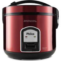 Panela Elétrica De Arroz Philco Ph10 Visor Glass Inox Red 127V