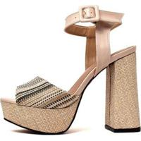 Sandália Damannu Shoes Andria Feminina - Feminino-Gelo