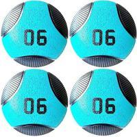 Kit 4 Medicine Ball Liveup Pro D 6 Kg Bola De Peso Treino Funcional - Unissex