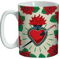 Caneca Cerâmica Frida Kahlo Heavened Heart 135 Ml - Mini Caneca Cerâmica Frida Kahlo Frida Kahlo Heavened Heart 9,5 X 6 X 8 Cm 135 Ml