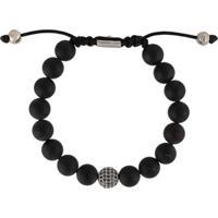 Nialaya Jewelry Pulseira Com Aplicações De Contas - Preto