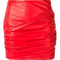 Versace Minissaia Com Franzido - Vermelho