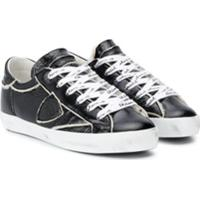 Philippe Model Kids Panelled Low Top Sneakers - Preto