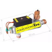 Aquecedor De Piscina Digital Automático Até 40 Mil Litros Com Ionizador Embutido