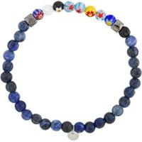 Tateossian Pulseira Millefiori Com Pedra Semi-Preciosa - Azul