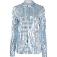 Bottega Veneta Camisa Com Aplicação - Azul