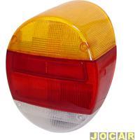 Lente Da Lanterna Traseira - Alternativo - Fusca 1980 Até 1996 - Modelo Fafá - Tricolor - Cada (Unidade)