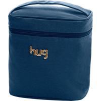 Frasqueira Térmica Hug Baby Linha Chevron Azul Marinho