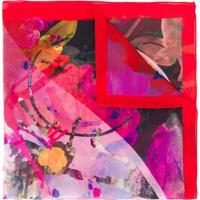 Paul Smith Lenço Quadrado Com Estampa Floral Abstrata - Rosa