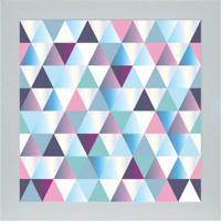 Quadro 65901 Abstrato 33X33 Cm Branco
