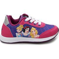 Tênis Infantil Disney Princesas Feminino - Feminino-Pink+Marinho