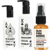 Kit Barbas Longas Balm + Gel De Barbear 140G + Óleo Barbas Longas 30 Ml - Unissex
