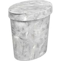 Lixeira Com Tampa Glass- Cinza- - 5L- Cozacoza