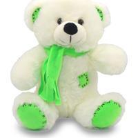 Urso De Pelúcia Com Cachecol 25Cm - Verde - Unik Toys