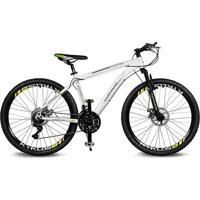 Bicicleta Kyklos Aro 26 Kivnon 8.5 Freio A Disco A-36 21V Branco/Verde