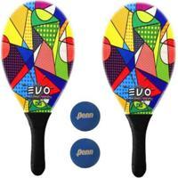 Kit Raquetes Frescobol Evo Fibra Vidro Picasso Com 2 Bolas Penn - Masculino