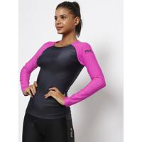 Blusa Swimming Flow® - Preta & Pinkfila