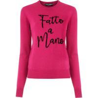 Dolce & Gabbana Blusa De Tricô Bordada - Rosa