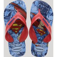 Chinelo Infantil Havaianas Max Heróis Super Homem Azul Royal