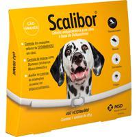 Coleira Scalibor Antiparasitária Para Cães Combate Infestação De Carrapatos, Pulgas E Mosquitos Leishmaniose 65Cm 25G