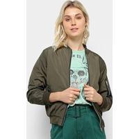 Jaqueta Nylon Only Fashion Feminina - Feminino-Verde Escuro