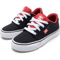 Tênis Dc Shoes Menino Logo Preto