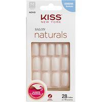 Unhas Postiças Naturais Kiss New York Salon Natural Médio Quadrado - Feminino-Incolor