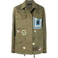 Amiri Camisa Militar Com Patches - Verde