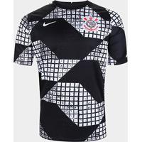 Camisa Corinthians Iv 20/21 Nike Masculina - Masculino-Preto+Branco