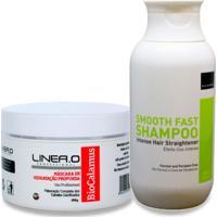 Sonho Cabelo Liso E Saudável Shampoo Alisante Smooth Fast + 1 Máscara De Hidratação Bio Calamus - Feminino