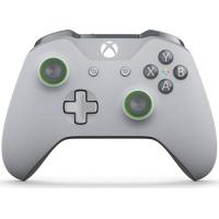 Controle Sem Fio Microsoft Para Xbox One S Cinza/Verde