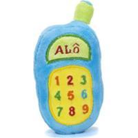 Chocalho De Pelucia Unik Toys Celular Azul