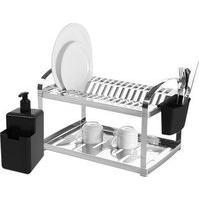 Escorredor Para Pratos Inox + Dispenser Single - Brinox